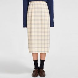 cheddar soft check skirt
