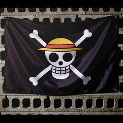 원피스 해적깃발 밀짚모자 해적기