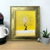 그림액자 돈들어오는그림 유화그림 행복한나무-노랑