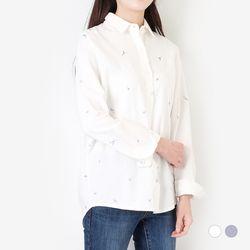 부루앤쥬디 블루꽃 셔츠 (2컬러) WGKB2SH003