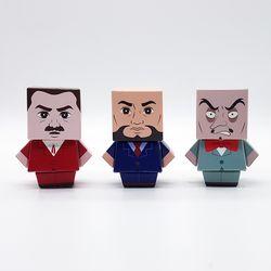 미니스타일 페이퍼토이 - 태권브이 시리즈3 박사들