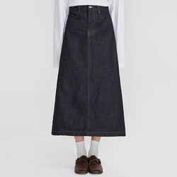 casual plain long skirts