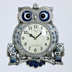 (kspz226)스틸리아 부엉이 시계 주석