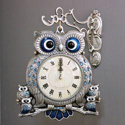 (kspz224)스틸리아 부엉이 양면시계 주석