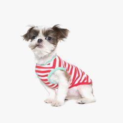 70s Stripe Sleeveless T-Shirt (Red)