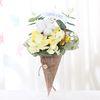 플라워 아이스크림콘 꽃다발(옐로우)