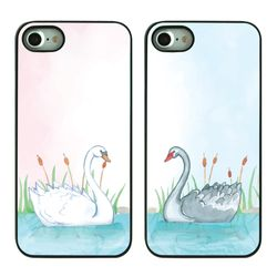 DPARKS Animal couple BLACK CASE
