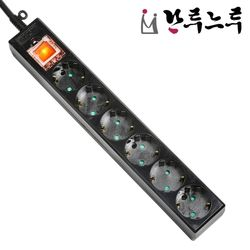 접지 6구 1.5M 블랙 멀티탭