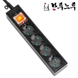 접지 4구 3M 블랙 멀티탭