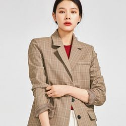even classic check jacket