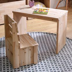 원룸가구 원목 책상 의자 세트