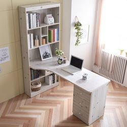 원룸가구 라운딩 책상 세트 1600