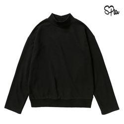 슈퍼레이티브 - HALF NECK LS TEE - 블랙