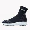 YJ001 Frill Socks snickers Black