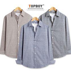 [탑보이] 클로즈 글렌 체크 셔츠 (DL516)