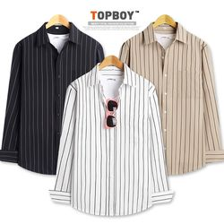 [탑보이] 메시브 스트라이프 셔츠 (DL512)