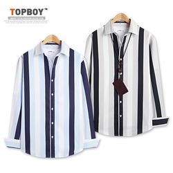 [탑보이] 3톤 스트라이프 컴포트 셔츠 (DL509)