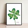 인테리어 그림 액자 네잎클로버 clover(A3프레임포함)