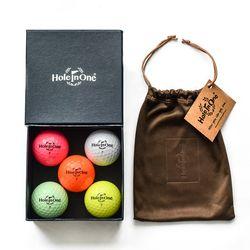 홀인원칼라볼 컬러볼 3피스골프공 골프단체선물