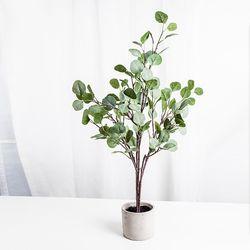 유칼립투스 숯 나무 조화 화분
