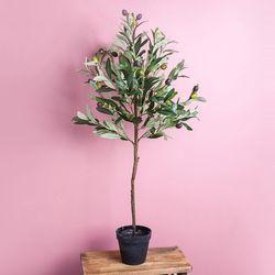 올리브 숯 나무 조화 화분
