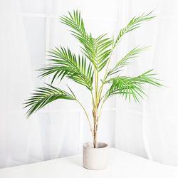 아레카야자 숯 나무 조화 화분