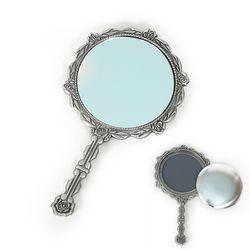 자수용 로즈 원형 거울(은색) [1301]