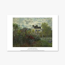 The Artist Garden in Argenteuil - 클로드 모네 019