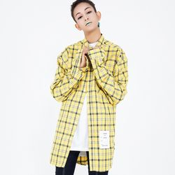 Oversize Side Vent Check Shirts NSS-8401