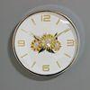 (kpl040)크롬 해바라기 시계 360 (저소음)