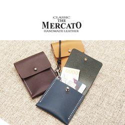 [메르카토]덮개목걸이카드지갑 만들기 가죽공예DIY