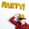 이니셜은박풍선 party (골드)