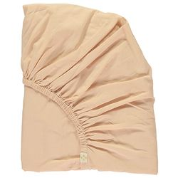 Solid mattress cover - peach puff (K)