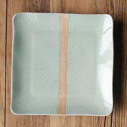 민트시리즈 정사각 접시 (대)