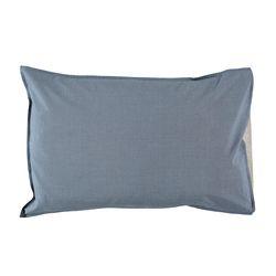 Mini Check pillow cover - blue (40x60cm)