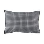Ikat Check pillow cover - pebble & ivory (50x75cm)