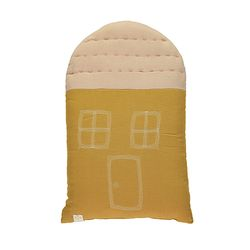 House cushion - ochre & pearl pink (29x47cm)