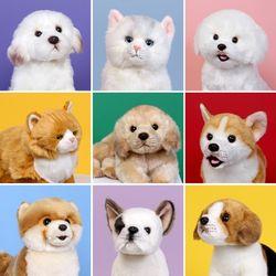 이젠돌스 위더펫 리얼 강아지 인형 골든리트리버 라잉