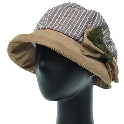 [더그레이]DKU21.링클배색 여성 벙거지 모자 버킷햇