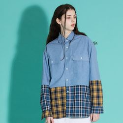 [0223발송] OVERFIT CHECK DENIM SHIRTS
