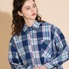[0223발송] OVERFIT CHECK SHIRTS BLUEPINK