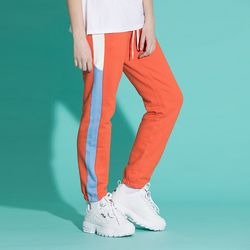 [0223발송] LINE SWEAT JOGGER PANTS ORANGE