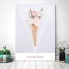 아이스크림 꽃4 - 홈데코 폼보드액자(A4)