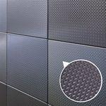 DIY인테리어 스테인레스타일 체크 블랙 100x100