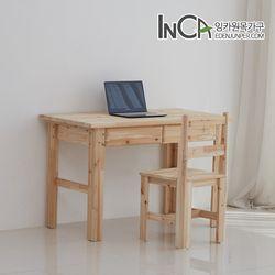삼나무 원목 편수 책상 세트-책상+의자