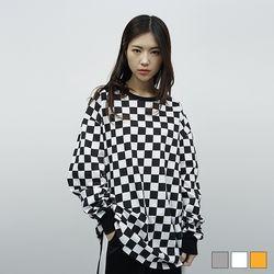 2053 체커보드 긴팔 티셔츠 (3colors)