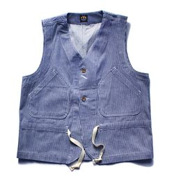 BLUE HICKORY WORK VEST