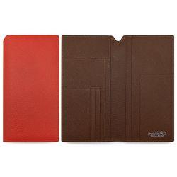 [한스마레] 소가죽 여권지갑 - 오렌지