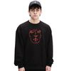 Mask Embroidery Crewneck(Black)