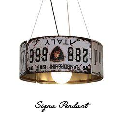 시그널 1등 펜던트 12w 볼 램프 포함